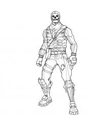 Раскраска Скелет