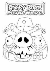 Раскраски Энгри Бердс Звездные войны
