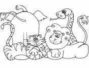 Раскраска для девочек животные