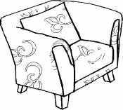 Кресло с рисунком
