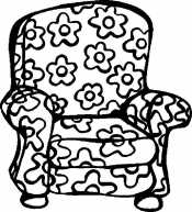 Кресло в цветах