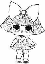 Кукла Лол с каре