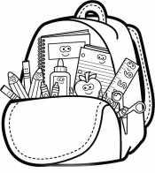 Раскраска Рюкзак школьника