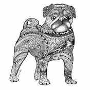 Собака Мопс антистресс