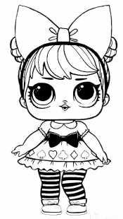 Кукла Лол в ободке