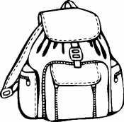 Раскраска Рюкзак с карманами