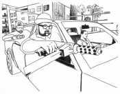 Бандиты в машине