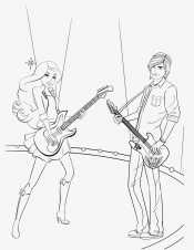 Кен и Барби с гитарами
