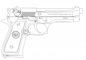 Раскраски Пистолет