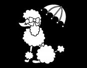 Раскраска Пудель под зонтом