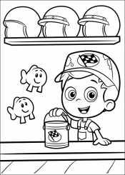 Раскраска Гуппи и пузырьки