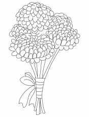 Хризантемы с бантиком