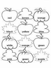 Раскраски Цвета на английском