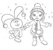 Рози и Хвостик на Рождество