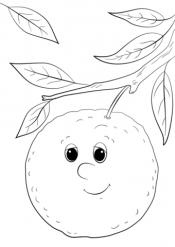 Апельсин с глазками