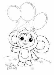 Чебурашка с шариками