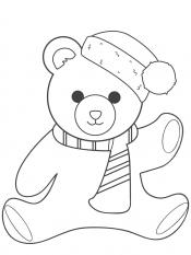 Новогодний мишка в шапке
