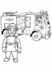 Василий Стил и пожарная машина