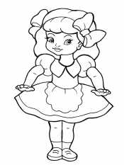 Кукла с бантиками