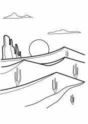 Пустыня. Закат