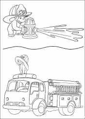 Джордж и пожарная машина
