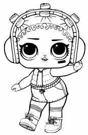 Кукла Лол в шортах и наушниках
