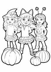 Подружки на Хэллоуин