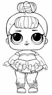 Кукла Лол в платье