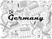 Раскраска Германия