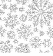 Зимние узоры снежинки