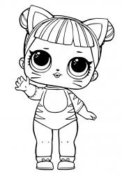 Кукла Лол в костюме кошки