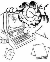 Компьютер и Гарфилд