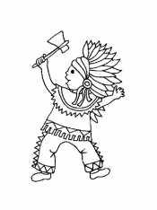 Индеец - мальчик