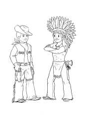 Индеец и ковбой