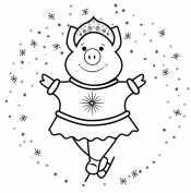 Свинья в кокошнике