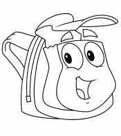 Раскраска Рюкзак с глазами