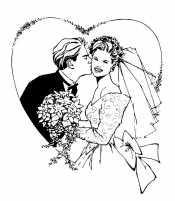 Раскраска Невеста и жених