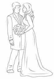 Красивые жених и невеста