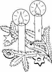 Свечи и елка