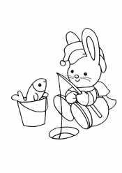 Заяц с удочкой