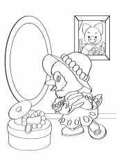 Раскраска Зеркало
