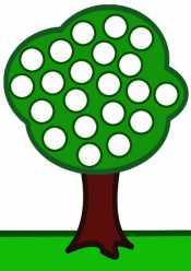 Дерево для пальчиков