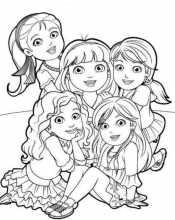 Рисунок Даша и друзья