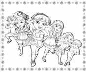 Даша с подружками