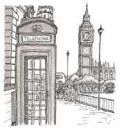 Телефонная будка Лондоне