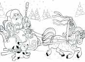 Дед Мороз и Снегурочка на тройке