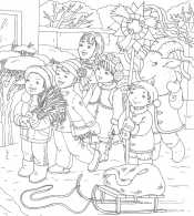 Дети поют колядки