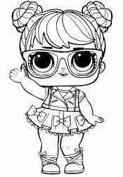 Кукла Лол с очками