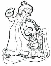 Снегурочка с зайчиком