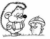 Ежик и гриб